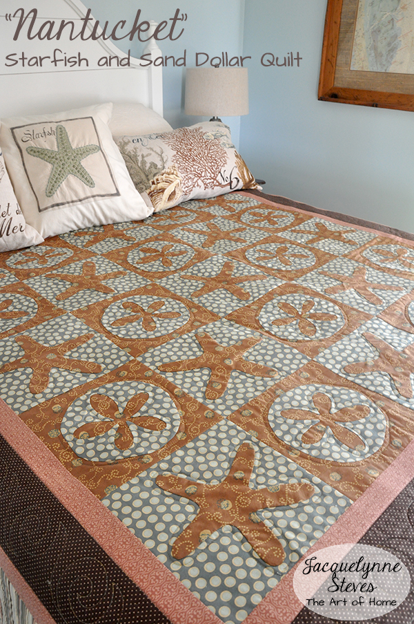 Nantucket Starfish & Sand dollar Quilt- Jacquelynne Steves
