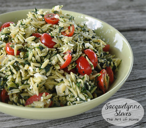 OrzoSalad With Spinach And Feta recipe- Jacquelynne Steves