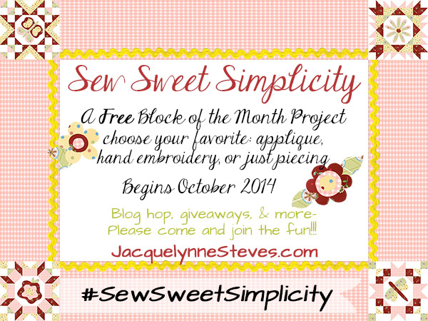 Sew Sweet Simplicity Free Block of the Month!