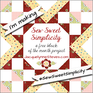 http://jacquelynnesteves.com/sewing-quilting/sew-sweet-simplicity-free-block-of-the-month/
