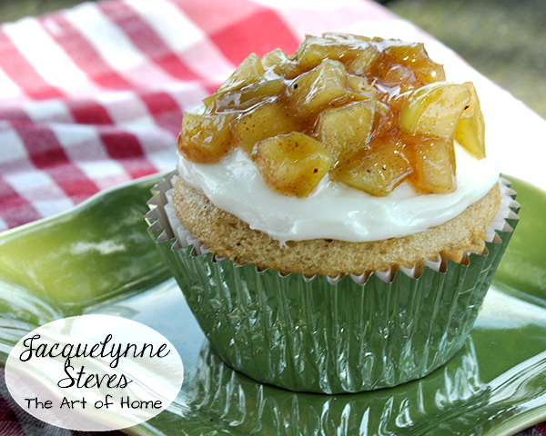 Apple Pie Cupcake Recipe-Jacquelynne Steves