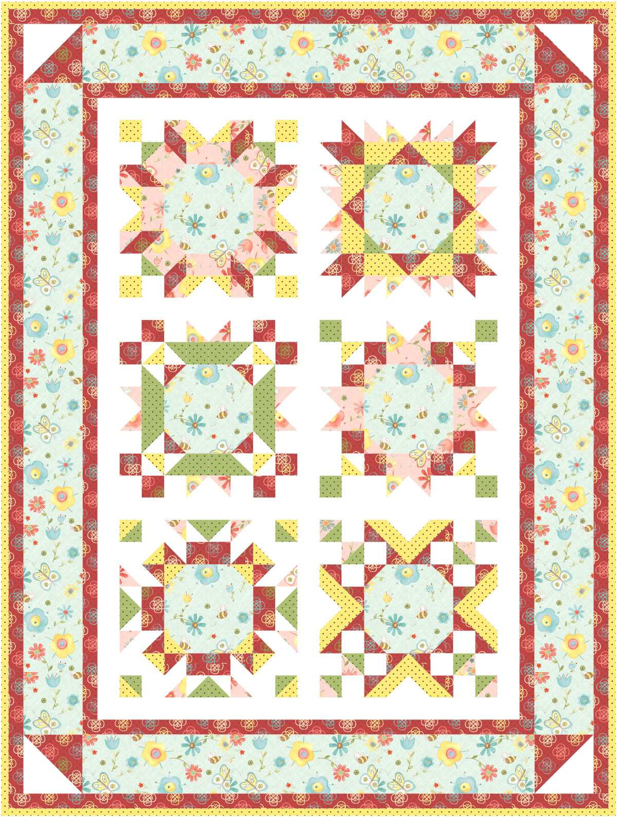 Some Fabric Ideas for the Block Of The Month