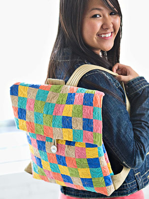 Checkered Tote/Backpack