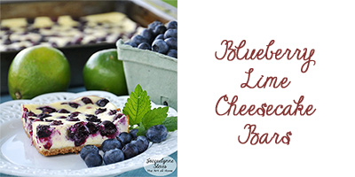 Blueberry Lime Cheesecake Bars- Jacquelynne Steves
