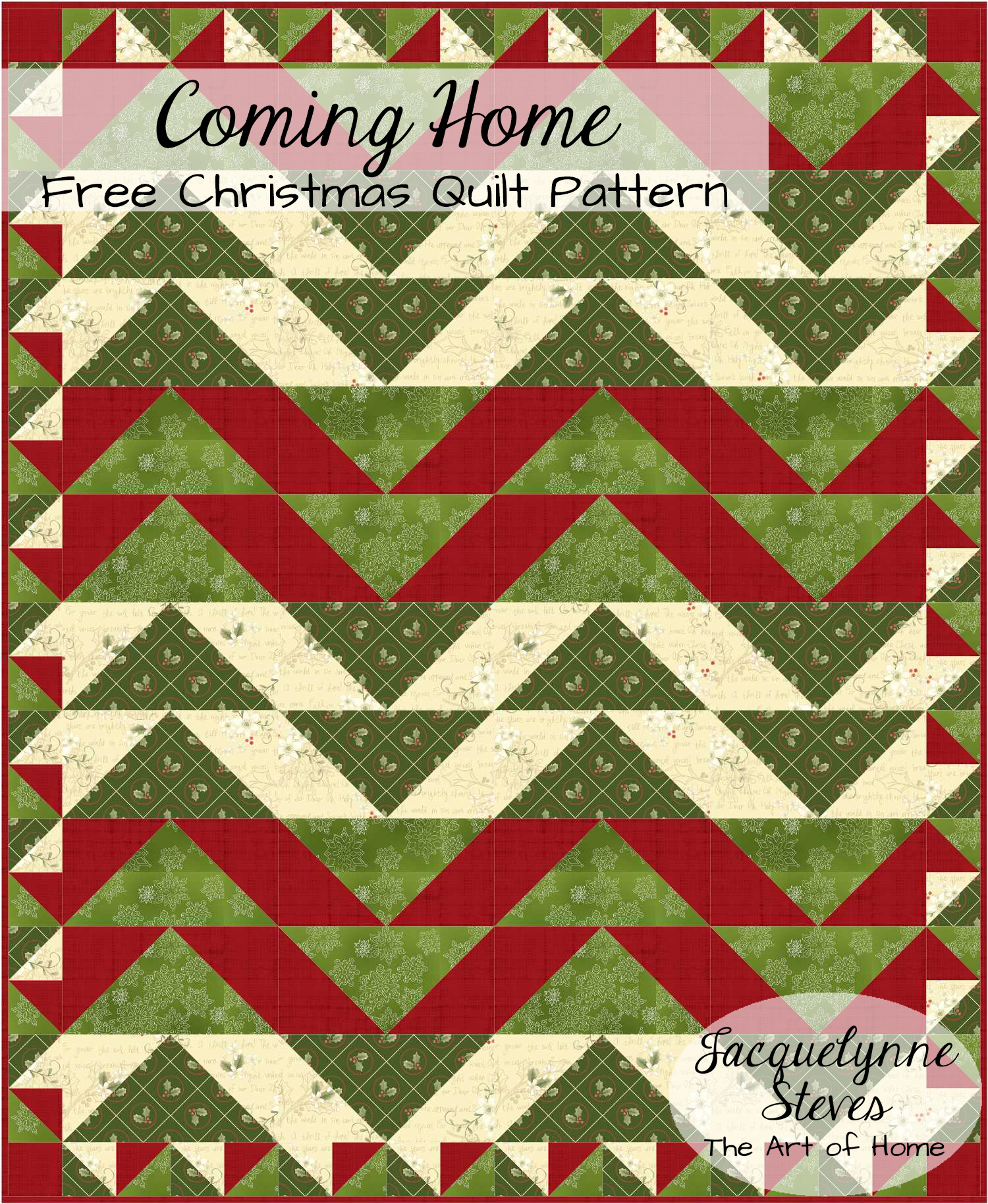 """Coming Home"" Free Christmas Quilt Pattern"