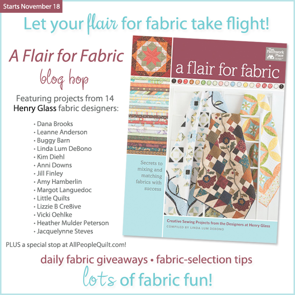 A Flair for Fabric Blog Hop!!!