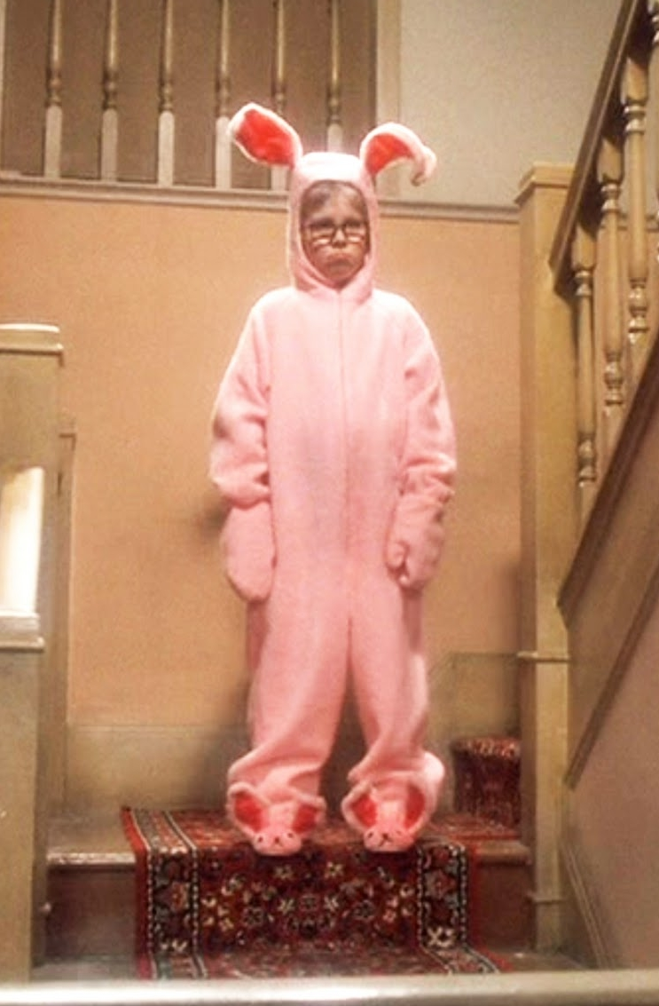Christmas Story bunny suit