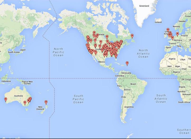 Sew Along Day Participants Map-Jacquelynne Steves