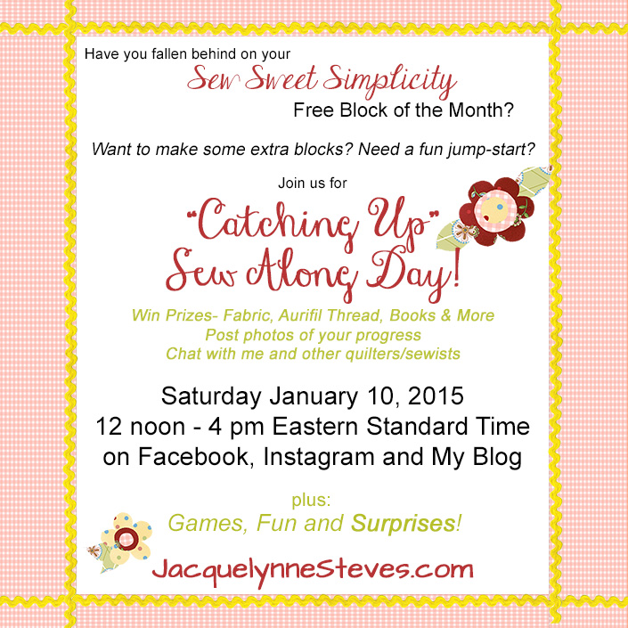 Sew Along Day is coming!