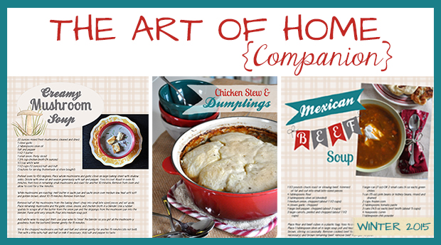 The Art Of Home- Winter2015 Free Emagazine Recipes- Jacquelynne Steves