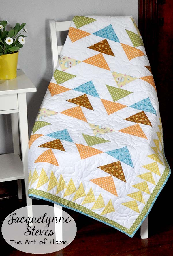 Peaceful Pastimes Flying Geese Free Quilt Pattern