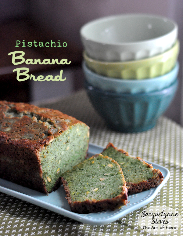 St. Patrick's Day Pistachio Banana Bread Recipe