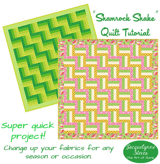 Super Easy Quilt Pattern – Shamrock Shake