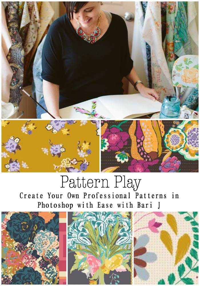 Pattern Play Course- do you dream of designing fabric?