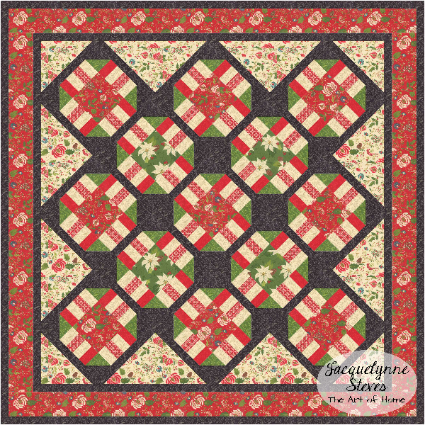 Christmas Quilt - Cozy Afternoon Free BOM- Jacquelynne Steves
