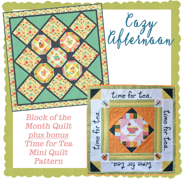 Cozy Afternoon BOM plus Mini Quilt pattern- Jacquelynne Steves