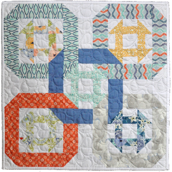 Twists and Churns Mini Quilted Table Topper Project