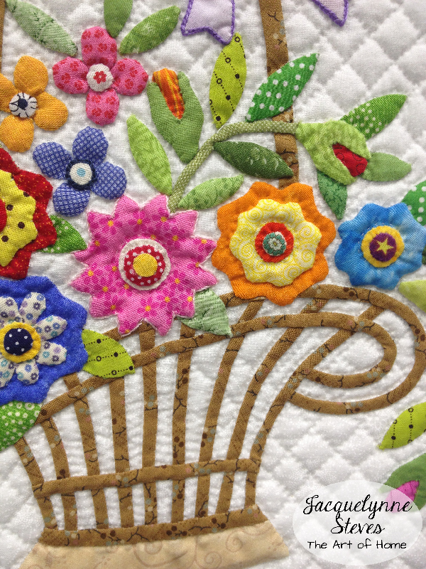 Quilt Market Spring 2015 Exhibit- A Soft Breeze by Kayoko Hata - basket close up