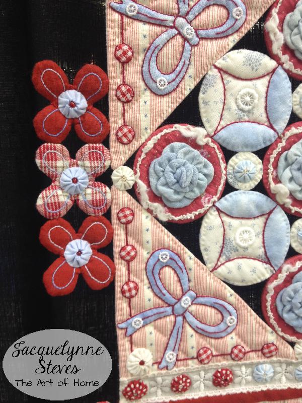 Quilt Market Spring 2015 Exhibit- Joyful Heart by Aki Sakai closeup1