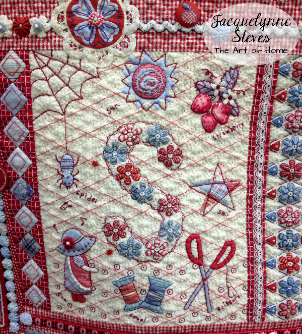 Quilt Market Spring 2015 Exhibit- Joyful Heart by Aki Sakai closeup5