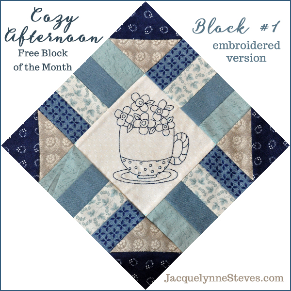 It's Here! Cozy Afternoon Free BOM- Blocks 1 & 2