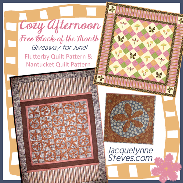 Giveaway for June- Cozy Afternoon Free BOM