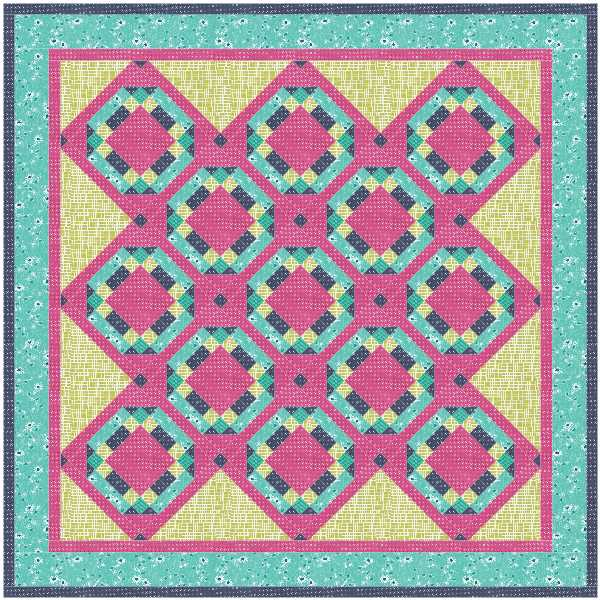 Cozy Afternoon BOM- Block 3 quilt