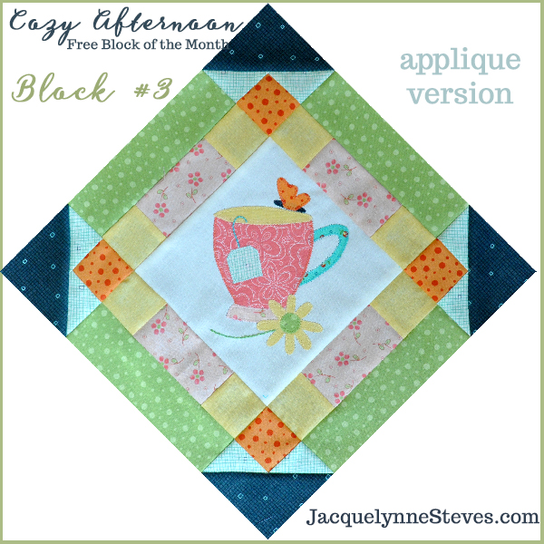 Cozy Afternoon FREE BOM Block 3 is here!!