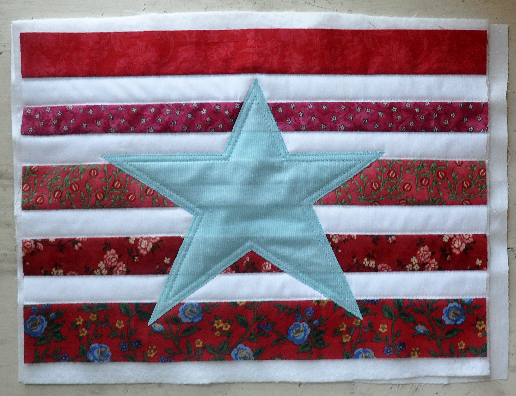 Patriotic Patchwork Pillow- Jacquelynne Steves-2