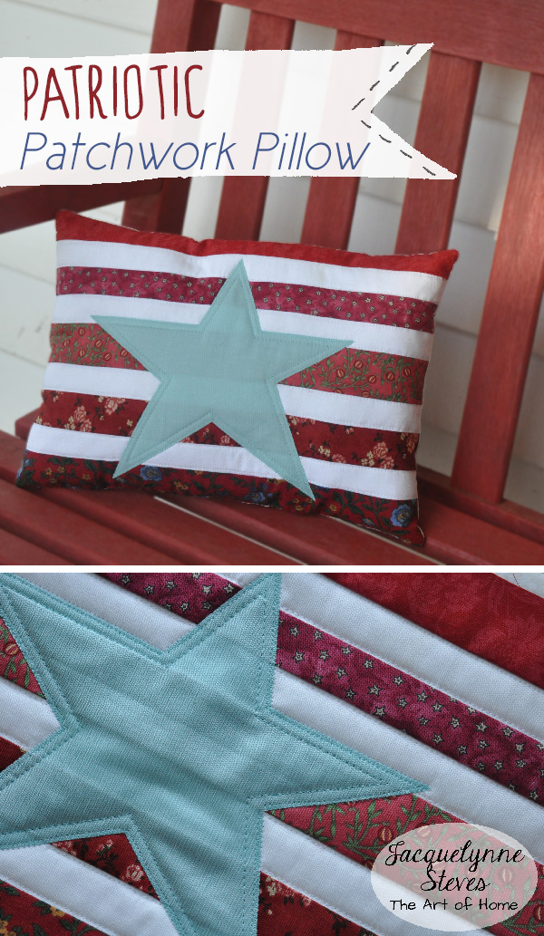 Patriotic Patchwork Pillow Project