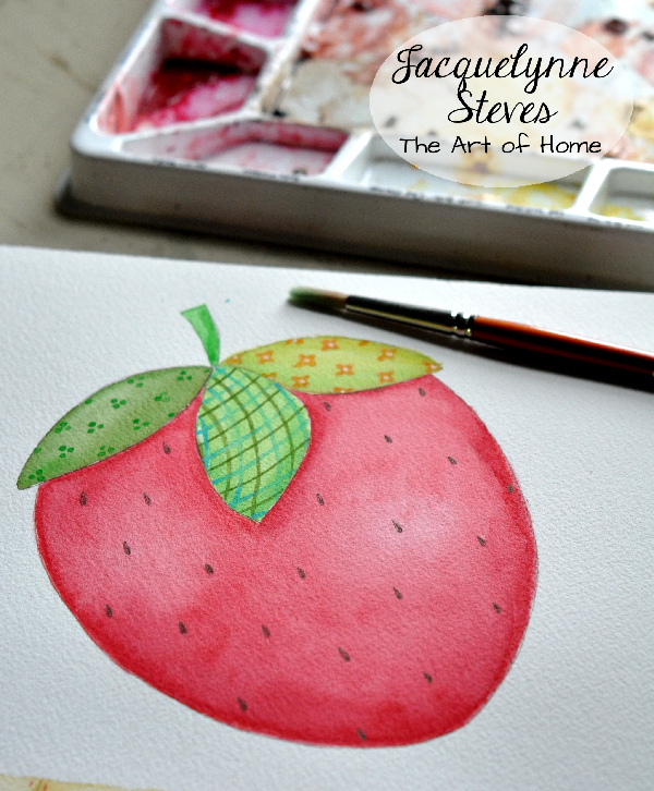 Strawberry Art- Jacquelynne Steves