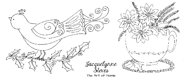 Christmas embroidery patterns- Jacquelynne Steves
