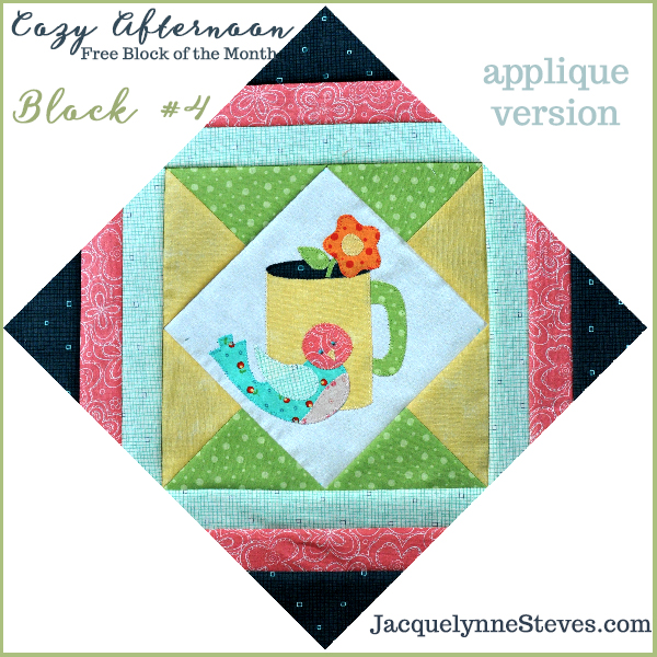 Cozy Afternoon Free Block of the Month-Block4- Jacquelynne Steves