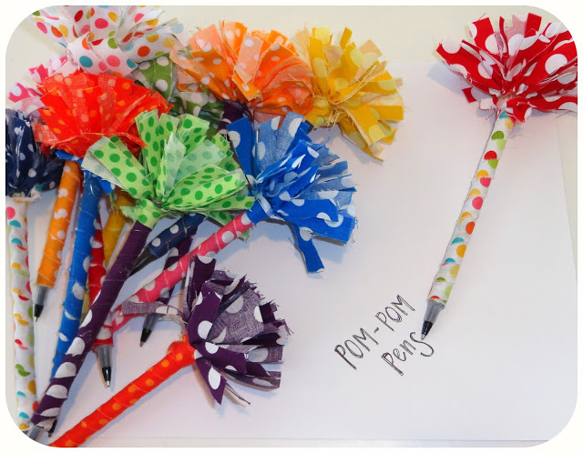 ...or pretty pom-pom pens... everyone will want these!