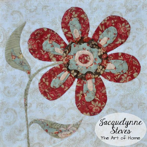 Flower Applique Block- Jacquelynne Steves