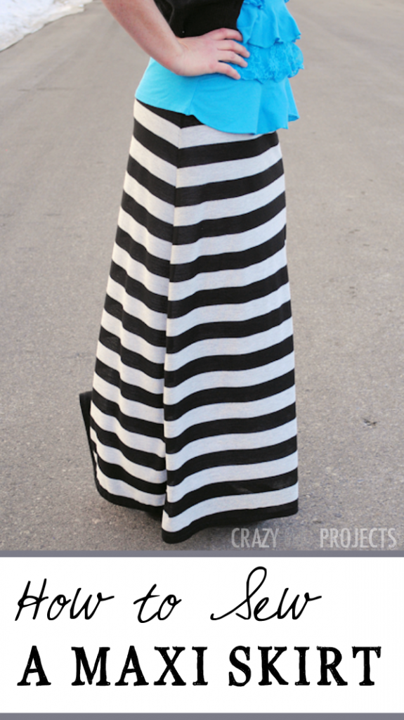 Finally, for those who would like to make their own back-to-school wardrobe, an easy to make maxi skirt.