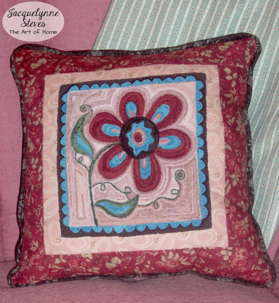 Megans Flower punchneedle pattern- Jacquelynne Steves