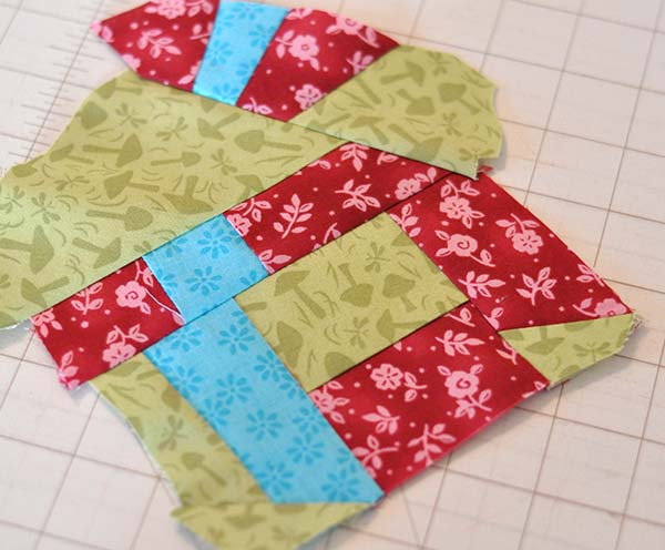 scrappy pieced fabric