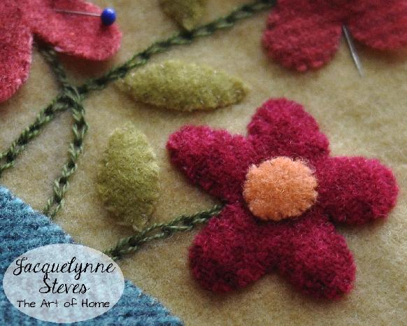 Wool Flower preview- Jacquelynne Steves