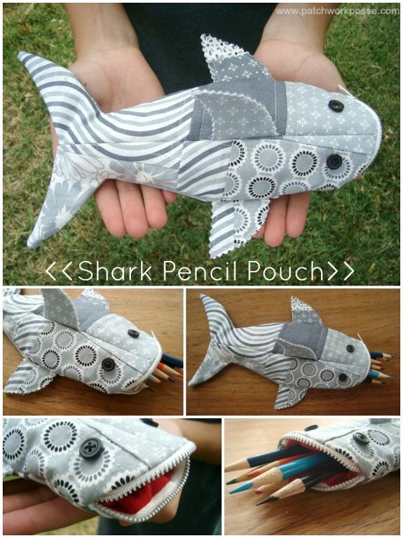 What about a Shark Pencil Case? So cute!