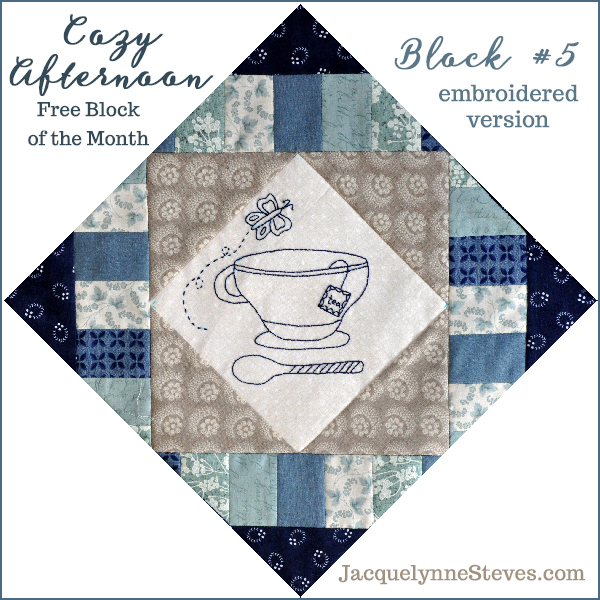 Block 5 Cozy Afternoon Free BOM- Jacquelynne Steves