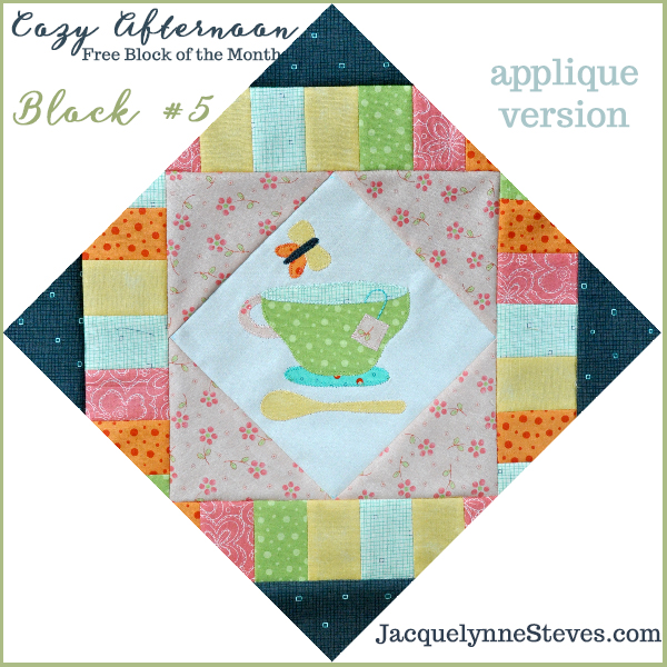 Cozy Afternoon Free Block of the Month-Block5- Jacquelynne Steves