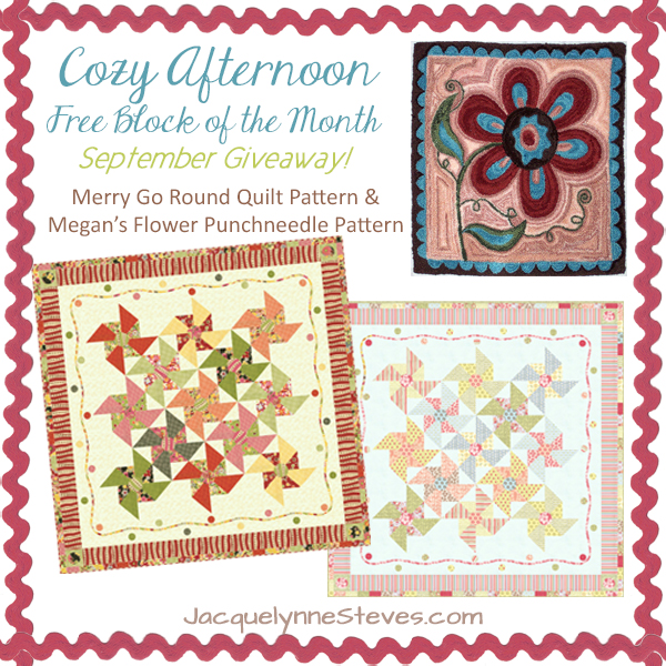 Cozy Afternoon Block of the Month Block 5 is here!!