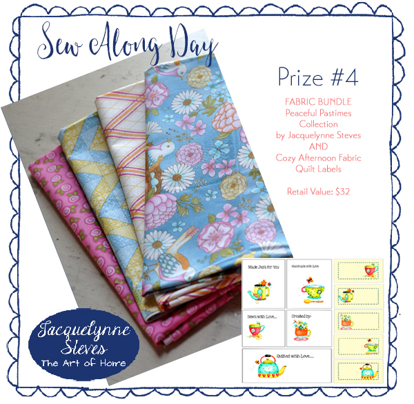 Prize Four- Sew Along Day- Jacquelynne Steves