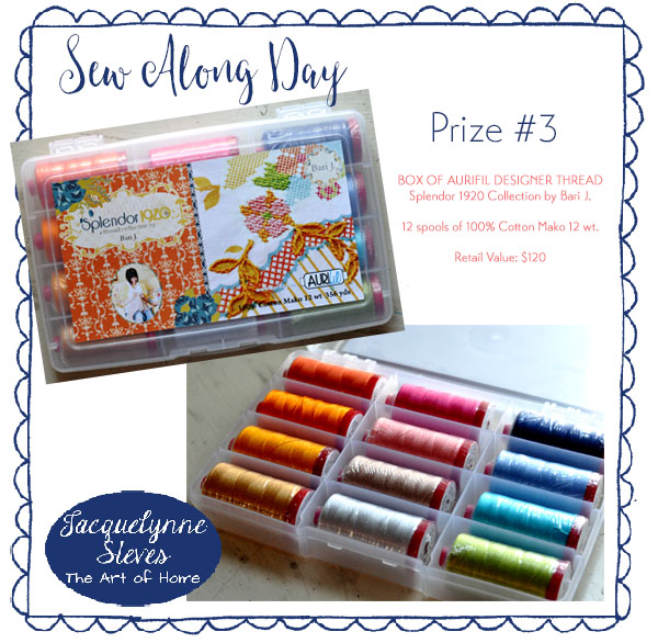 Prize Three- Sew Along Day- Jacquelynne Steves