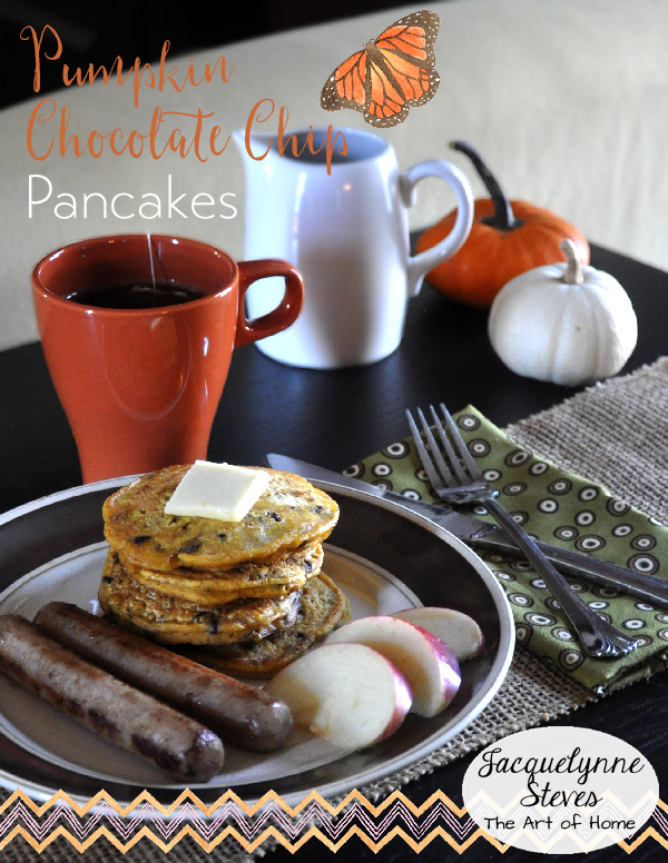 Pumpkin Chocolate Chip Pancakes- Jacquelynne Steves