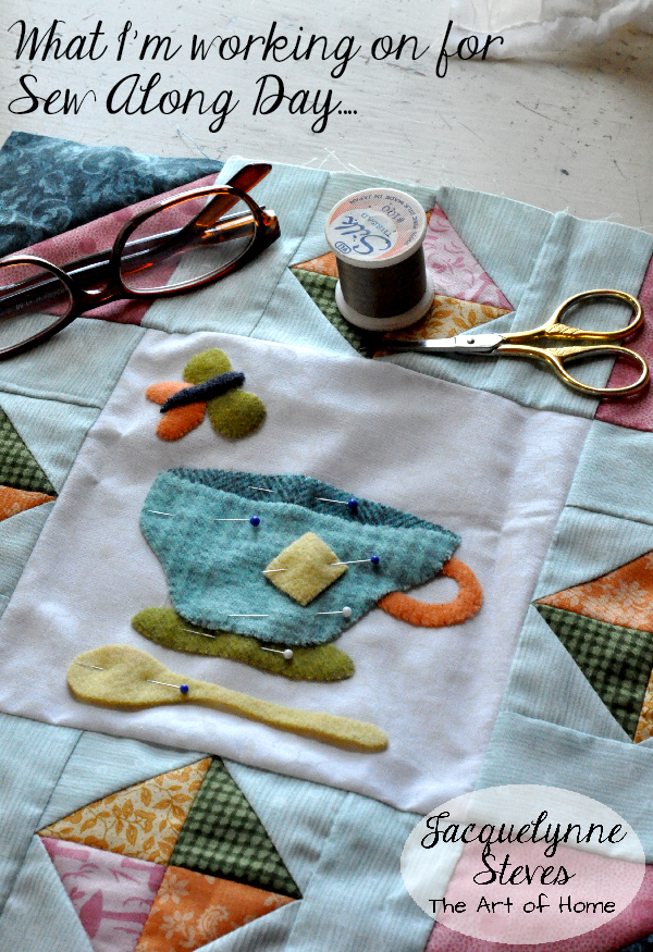 Sew Along Day project wool applique- Jacquelynne Steves