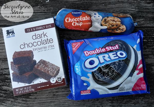 Trashy Brownie Ingredients- Jacquelynne Steves