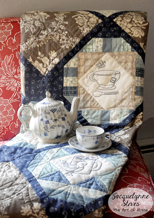 Cozy Afternoon Embroidered Quilt- Jacquelynne Steves