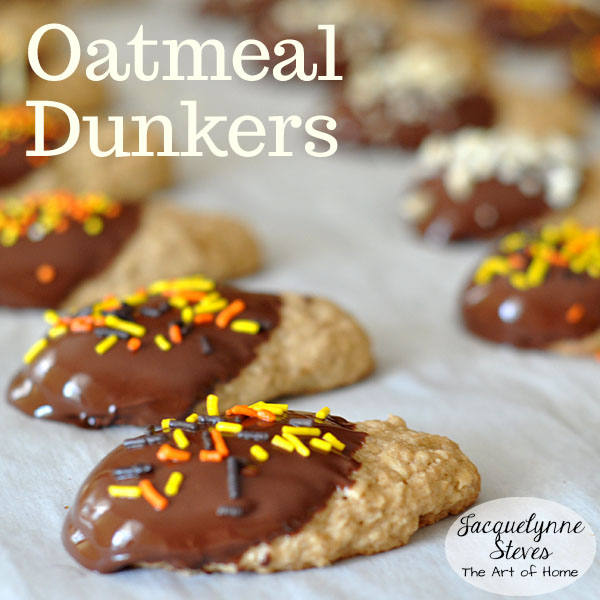 Oatmeal Dunkers Cookie Recipe- Jacquelynne Steves